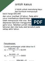 Contoh kasus depresiasi
