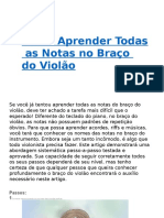 Como Aprender Todas as Notas No Braço Do