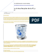 Eliminar Definitivamente Recycler-Desktop
