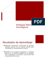Enfoques Teóricos Sociologicos