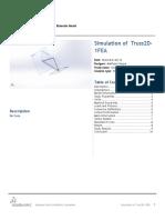 Truss2D 1FEA Static 2 3