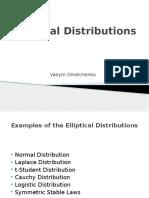 Elliptical Distributions24