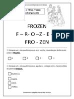 Atividades Com o Filme Frozen