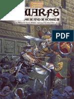 Warhammer FRP - Dwarfs - Stone and Steel
