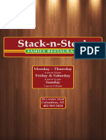 Stack n' Steak Menu 3/31/16