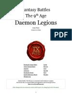 The Ninth Age Daemon Legions 0 11 0