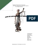 Fase de Ejecucion en El Proceso Penal