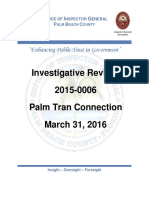 Investigative Review 2015-0006 Palm Tran Connection