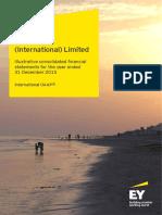 Modelo de Estados financieros expresados baj o IFRS a Dec-15