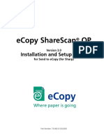 eCopy ShareScan OP Installation+Setup Guide For Sharp