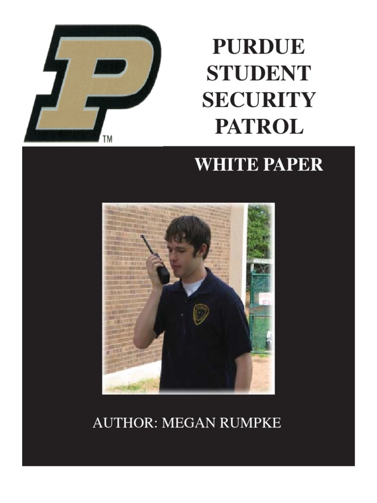 purdue student security patrol white paper