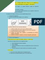 Desarrollo y revisión del cuaderno de Lengua y L.