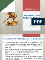 2. Confirmación del Acto Jurídico