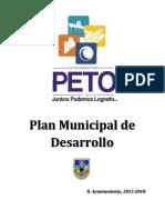 Plan Municipal de Desarrollo Peto 2015 - 2018