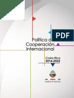 Politica de Cooperacion Internacional Subrayado