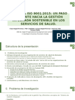 The New Iso 9001 2015 a Step Closer to Sustainable Integrated Management in Healthcare Español