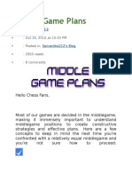 Middle Game Plans