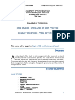 Syllabus PRM Case Studies 2012