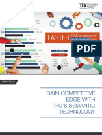 Gain Competitive edge With TRG's Semantic Technology