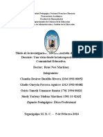 Informa de Investigacion Etica