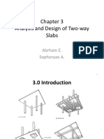 CH 3 - AE Analysis and Design of Two-Way Slabs