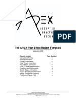APEX Post Event Report