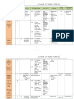 Scheme of Work Form 3 2015