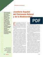 Especial Inventarios Del Medio Natural%3a Inventario Español Del Patrimonio Natural y de La Biodiversidad.