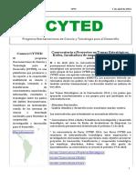 Boletín Cyted Nº31 2016 Web