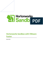 HortonWorks Sandbox - Import on VMware 3-1-2016