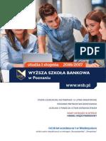 Informator 2016 - studia I stopnia - Wyższa Szkoła Bankowa w Poznaniu.pdf