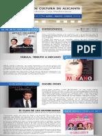 Aula de Cultura de Alicante. Programación Abril-Junio 2016. Fundación Caja Mediterráneo