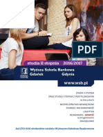 Informator 2016 - studia II stopnia - Wyższa Szkoła Bankowa w Gdańsku.pdf