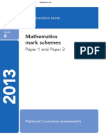 2013 KS2 Maths Mark Scheme - Level 6
