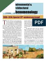 Architecture Environment Phenomenology