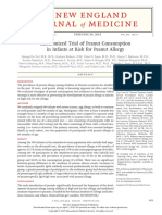 randomized trial of peanut consumption in infants at risk for peanut allergy