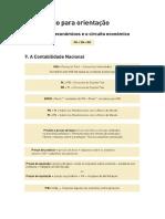 Fórmulas (Unidade 8 e 9) - Economia 11 ano