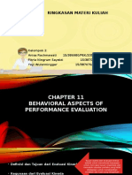 Behavioral Accounting Chapter  11-13