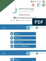 Karya Technologies Provides Microsoft Dynamics Services AX At Affordable Cost