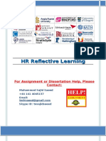 HR Reflective Learning