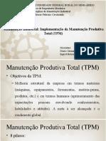 Apresentação Do Artigo - Manutenção Produtiva Total