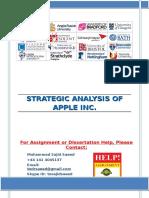 STRATEGIC ANALYSIS OF APPLE INC.