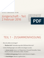 Jüngerschaft 2 - Februar 2016 - Notizen