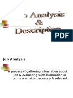 Job Analysis & description