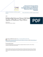 Relationship Between Nurses Job Satisfaction and Quality of Heal