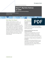 The Forrester Wave-Big Data Hadoop , q1 2016