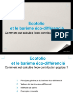 Ecofolio - Calcul de Leco-contribution Papiers - 2015