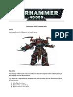 Warhammer 40k campagin rules