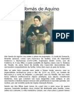 Biografia Tomás de Áquino
