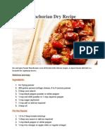 Paneer Manchurian Dry Recipe